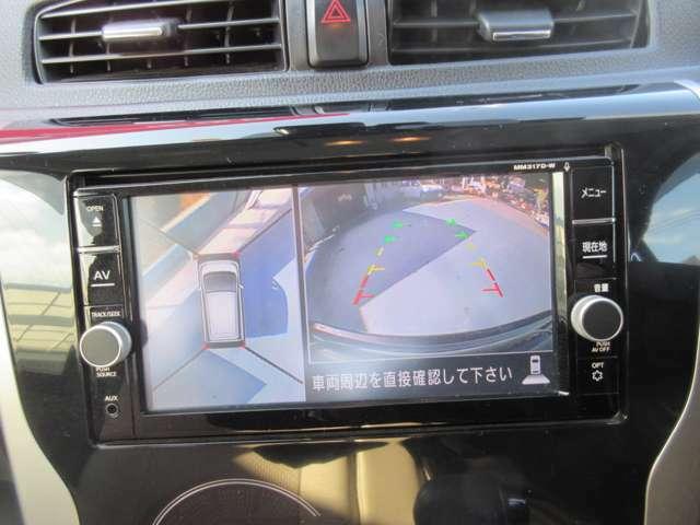 アラウンドビューモニターを搭載しています。駐車が苦手な方でもアラウンドビューで確認できる為安心です。