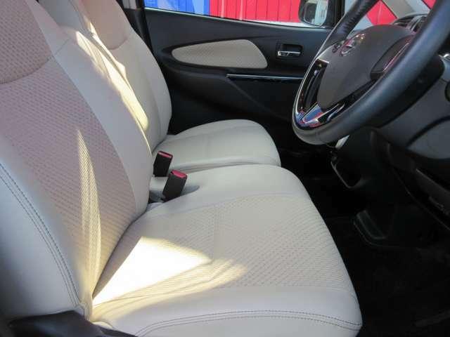 前の座席周りです。シートデザインも可愛いですね。