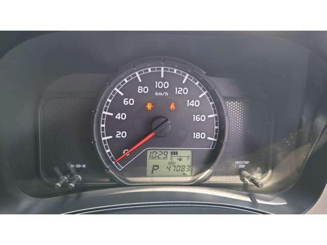 スピードメーター。見やすいです。