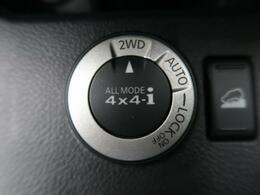 ◆[ALL MODE4×4-i]2WD→4WD→LOCKの切り替えも簡単ダイヤル操作です♪コンピューターが自動的にトルク配分してくれる高性能4WDです☆