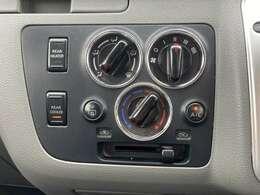 「マニュアルエアコン」回すだけで温風、冷風を切り替え可能!!操作が楽々