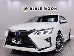 トヨタ カムリハイブリッド 2.5 レザーパッケージ 黒革 新品フルエアロ 新品AW 新品ライト