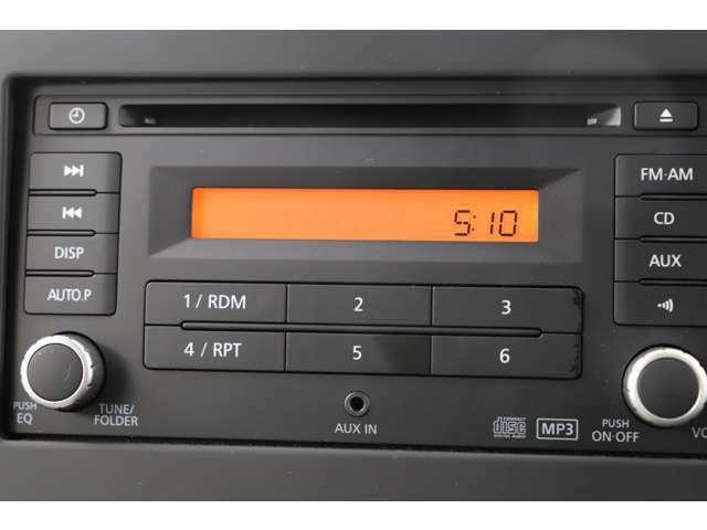 CDオーディオ装備★音楽を聴きながら楽しくドライブができますね♪