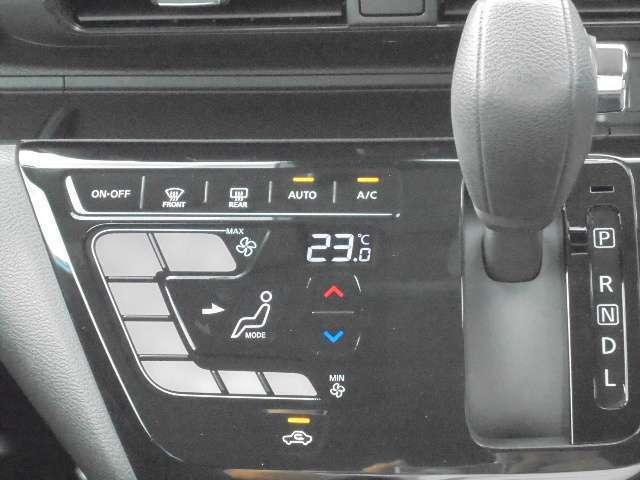 設定した温度に自動で調整するタッチパネル式のオートエアコンです