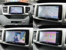 社外ナビが装備されております♪画面もクリアで運転中も確認しやすいです♪フルセグTVとDVDの視聴もお楽しみ頂けます♪SDにお好きな音楽を取り込んで聞いていただけます♪