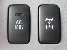 デフロック装備。滑りやすい泥濘路や起伏の激しい特殊な状況下でのみ使用する。AC100Vも装備。