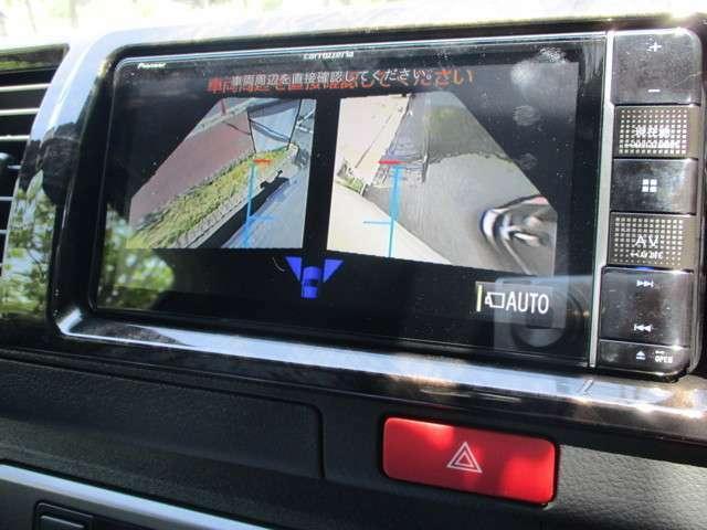 サイドカメラ表示♪画面の切り替えは車両側スイッチにて行います☆