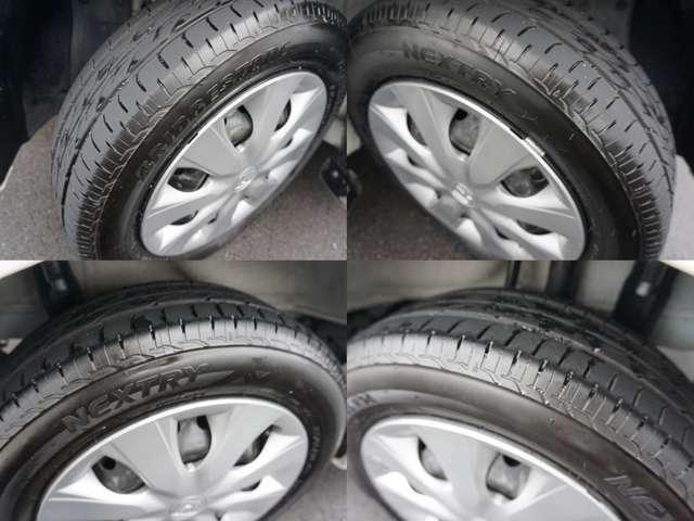 タイヤサイズ 155/65/14!タイヤの山もタップリ残ってます!すぐに買いかえる心配ありません!是非店頭にてお客様の目でお確かめ下さい。ご来店お待ちしております♪