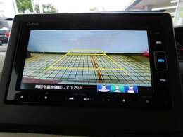 リアカメラシステムは、ナビ画面上の表示切り換えスイッチで、ノーマル/ワイド/トップダウン/の3パターンの視界表示が切り換えれるようになっています。