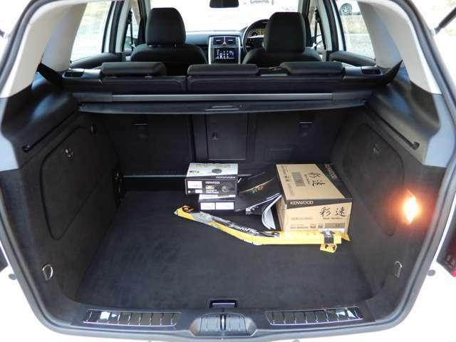 広々トランクもしっかりと清掃、除菌済みで荷物を積んでも安心です☆