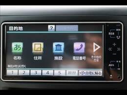 トヨタ純正ナビを装備。TV、ブルートゥース接続、DVD再生可能、音楽の録音も可能です。
