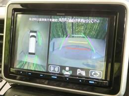 【全方位モニター】上から見下ろしたような視点で車の周囲を確認することができます☆縦列駐車や幅寄せ等でも大活躍です!!