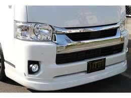 Identityフロントハーフスポイラー!LEDヘッドライト!Identity3年保証LEDポジションランプ!LEDフォグランプ!インテリジェントクリアランスソナー!