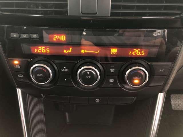 オートエアコン装備です!操作部も扱いやすいデザインです!