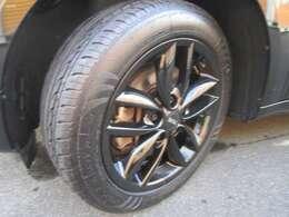 純正17インチアルミホイール タイヤ溝もしっかりございます