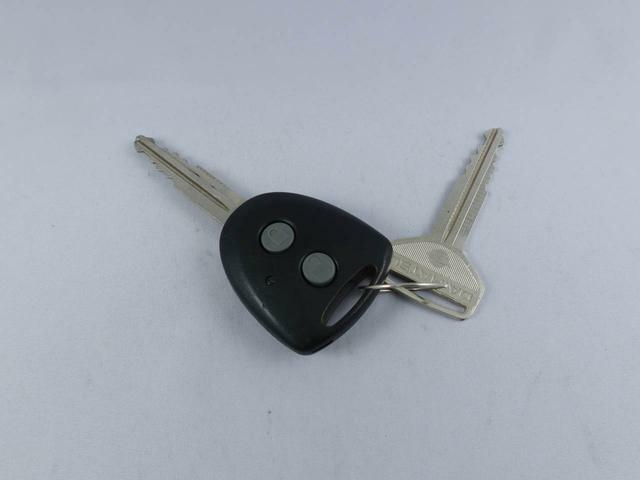 キーフリーなので、キーのボタンで鍵の開け閉めが可能です。