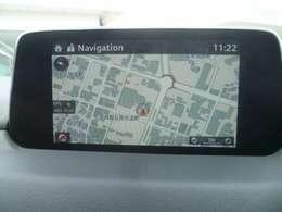 初めての行先でも安心のナビゲーションを装備、車両情報などの確認もマツダコンネクトで設定、確認が可能です