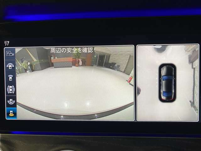 360度カメラにパーキングアシスト機能でスマホから遠隔駐車可能です