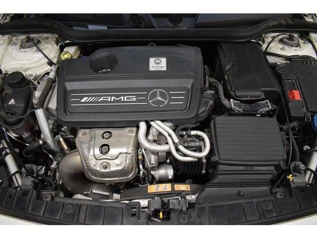 AMG専用開発2,000cc直列4気筒直噴ターボエンジン(381馬力 )&7速オートマティックトランスミッション搭載(カタログ値)
