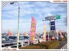 国道50号バイパス側から見た店舗写真です!大型の展示場がございます!道に迷ったら連絡下さいね☆