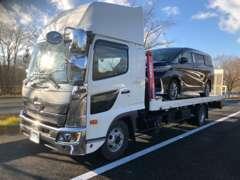 フルサイズのお車も楽々運べる積載車完備しています!緊急レスキューも対応しています!