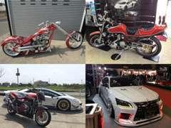 様々な車種!バイクの販売や当店には面白アイテムが満載!詳しくは当店http://tac-taka.jpHPにて!
