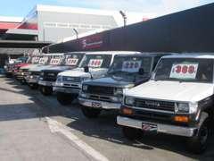 当店はランクル60・70・80・100。プラド70・90・120・150。FJクルーザーなどの4駆車のプロショップです!