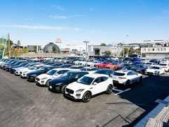 認定中古車在庫は100台規模の大型展示場にてご覧いただけます!