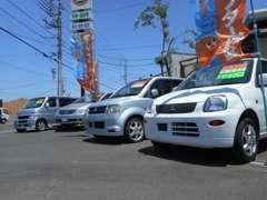 軽自動車や1BOX、セダン等様々な車種を取り揃えております!注文販売も承りますので、お気軽にお問い合わせください!