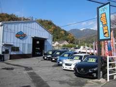 BLUE SKY SeaGull店です!販売車両を実際にご覧になれます!看板を目印にお越しください!