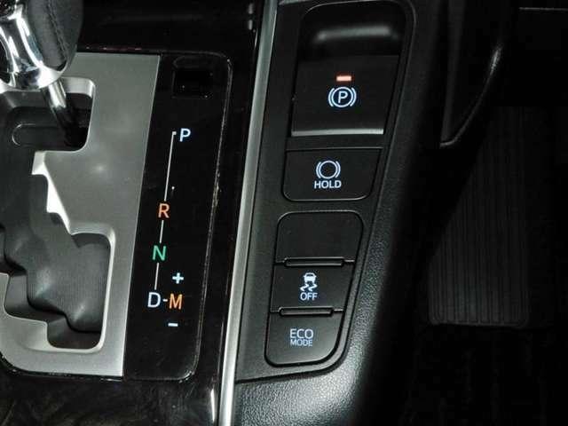 電動パーキングブレーキ搭載!スイッチ操作でパーキングブレーキを作動・解除できます。
