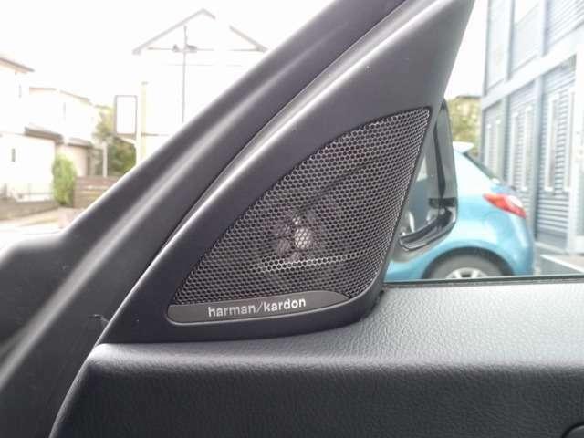 ハーマンカードンサウンドを装着した嬉しい車両です!高音質でお好きな音楽をご堪能ください!