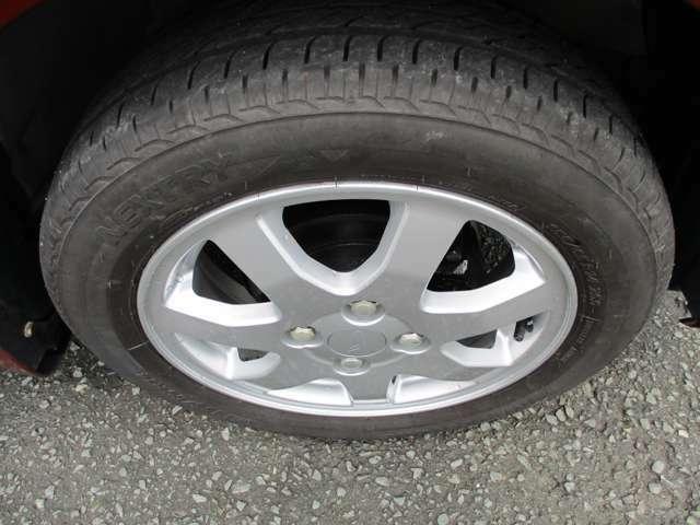 タイヤ4本5分山です。今後使用できる目安は普通に乗れる状態です。