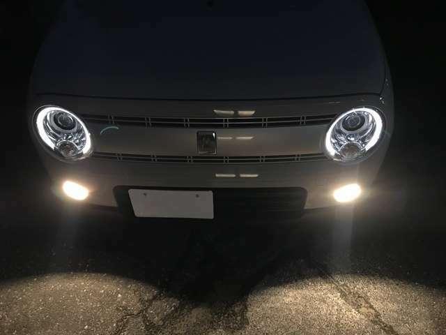 LEDヘッドは、夜間の見た目もGoodです!