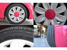 社外15AW!!でタイヤサイズ 165/50/15 ファルケン 8分山!!タイヤ交換でも費用が掛かりますが交換の必要も御座いませんのでご安心下さい!!
