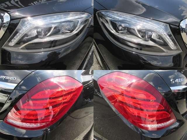 ヘッドライトのレンズのくすみもなくLEDがきれいに光ります。