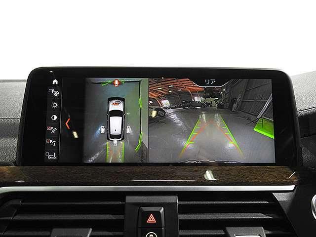 全周囲3D&トップ&サイド&リアビューカメラと前後障害物センサー(PDC)装備、さらにパーキングアシスト付きなので、駐車をサポート