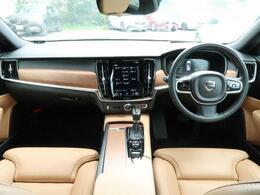 オニキスブラックメタリックのV90T6AWDインスクリプションのご紹介です!人気のアンバー色のファインナッパレザーの快適性と力強いT6エンジンの走行性を是非ご体感くださいませ♪