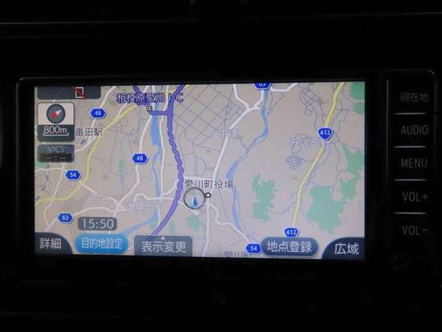 トヨタ純正ナビ装備!地図描写は文字も道もクリアで見やすく、滑らかに表示します。これさえあればもう道に迷わないですみますね♪