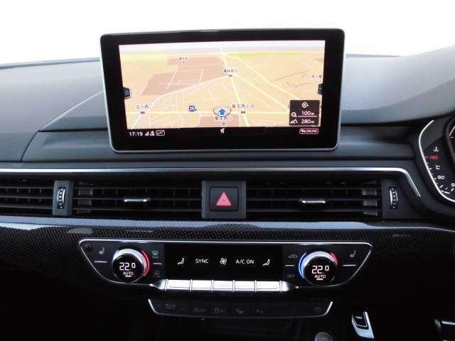純正ナビゲーションは、CD・DVD・SDカード・Bluetoothなどあらゆるメディアに対応します。もちろんテレビは地デジフルセグ、アウディコネクトにも対応となります。