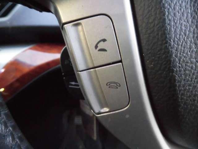 ハンドル左下のボタンで通話の操作が出来ます。