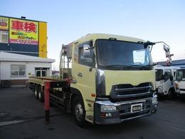 UDトラックス クオン 11.6トン 4段クレーン ラジコン 3軸 高床 URU504 角足 ユニック
