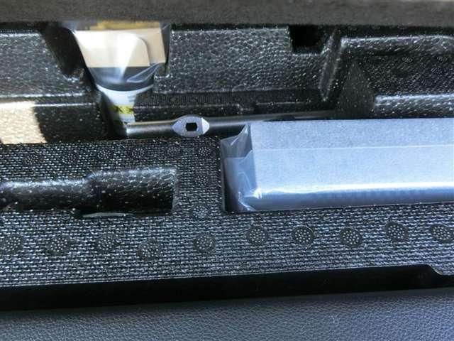 【タイヤ修理キット】付きなのでもしものトラブルにも即対応できます!