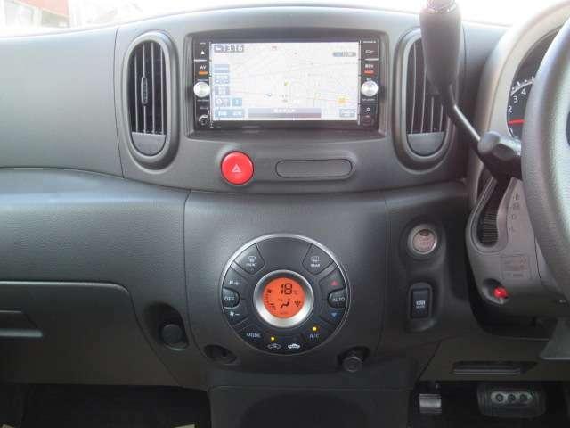 便利で快適なオートエアコン装着・純正メモリーナビMC315D-W装着です。純正ナビは日産ワイド保証対象ですので安心です