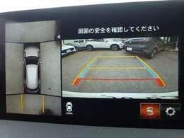 駐車が苦手な方もこれが有れば安心です!360度モニター。死角が確保できるのはいいですよ!