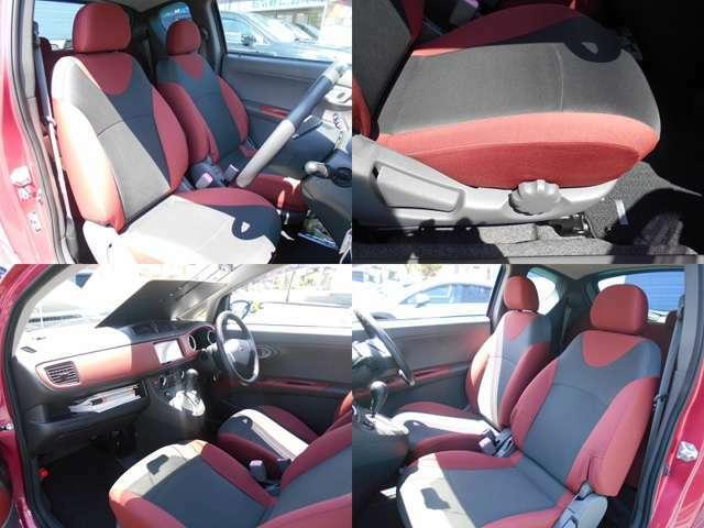 シートカラーはR1専用のレッド&ブラック!!運転席にはシートリフレクター付きでお好きなポジションに設定可能!!このシートでよくある大きなシミや色抜けも少なくそのまま十分お乗りいただけると思います!!!