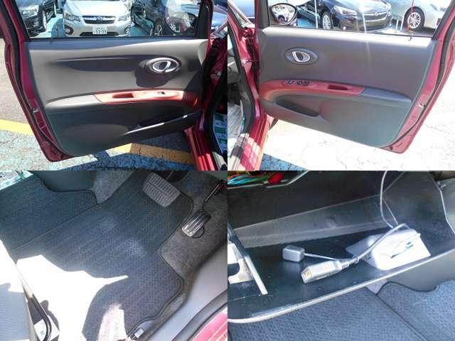 内装カラーもR1専用のレッド&ブラックです!!納車後に無いと困る『フロアマット』もしっかり装備!!外部オーディオ接続可能なUSBケーブルも装備しています!!!