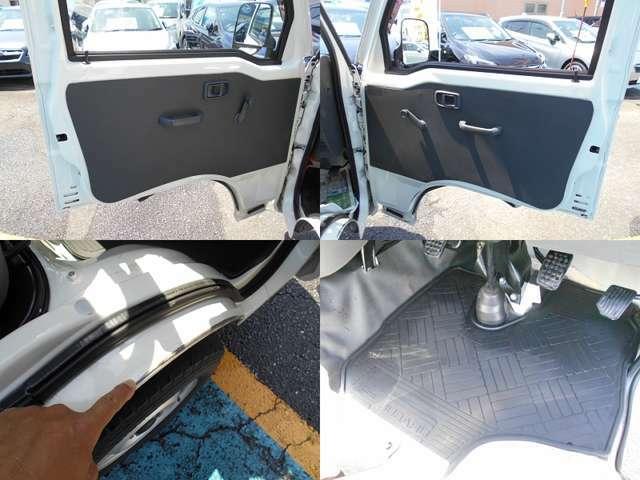 ドア内張にも破れなどはない状態です!!運転席&助手席には納車後無いと困る『ラバーマット』付き!!内装で気になる箇所は運転席ドア内側のキズです!!ご遠方にお住まい等で現車確認出来ない方は要チェックです!
