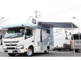 トヨタ カムロード 東和モータース ヴォーンズィーベンR2B FF オーニング 家庭用AC ソーラー 3サブ