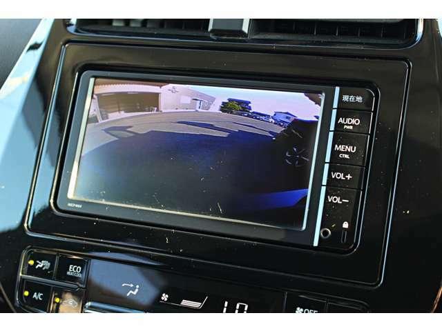 大きな車両でも安心して駐車できるガイドライン付きバックカメラも装着済みです★